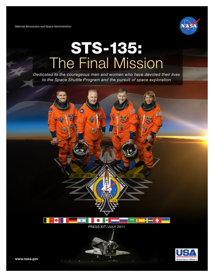 Press kit for the final space shuttle mission, STS-135 on Atlantis