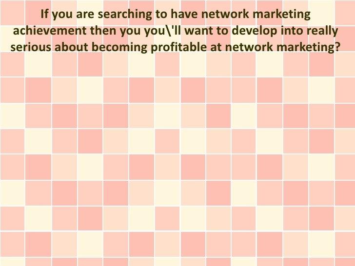 Network Marketing Results Strategies