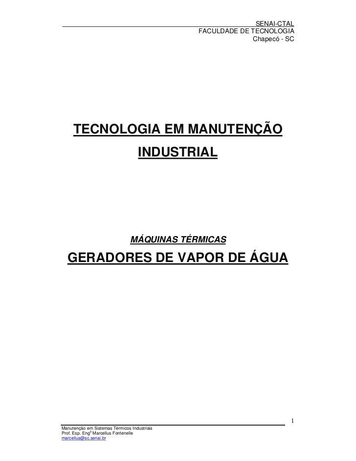 SENAI-CTAL                                              FACULDADE DE TECNOLOGIA                                           ...