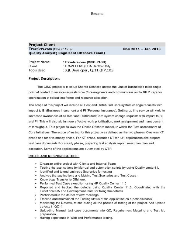 Sample Chief Information Security Officer resume