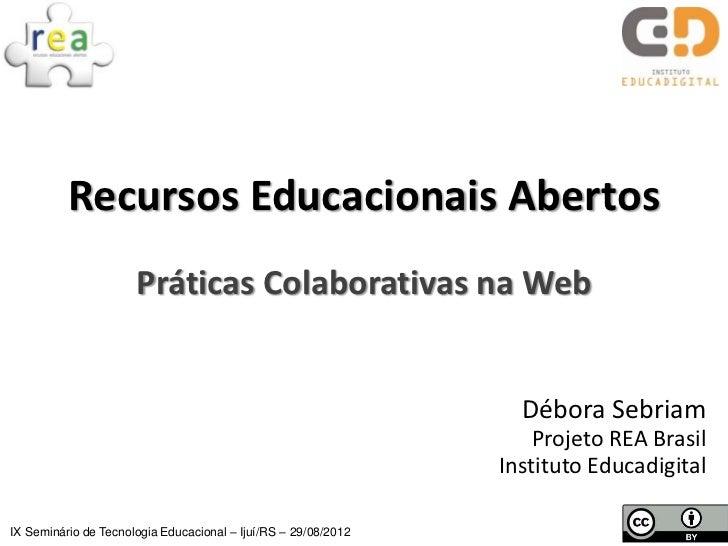 REA: práticas colaborativas na web