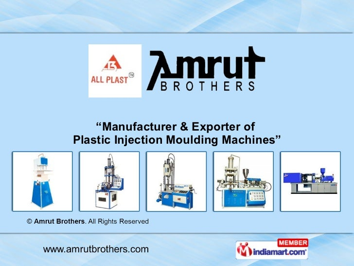 """"""" Manufacturer & Exporter of  Plastic Injection Moulding Machines"""""""