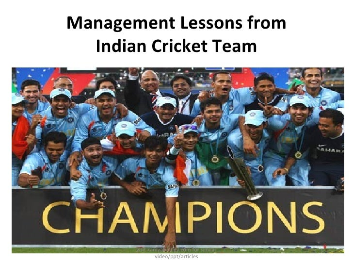 Management Lessons from Indian Cricket Team visit kamyabology.com for similar video/ppt/articles