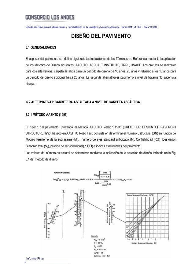 Estudio Definitivo para el Mejoramiento y Rehabilitación de la Carretera: Ayacucho-Abancay, Tramo: KM.154+000 – KM.210+000...