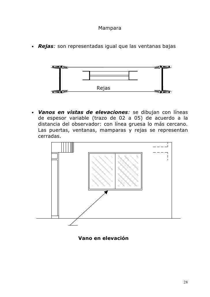 Scorpions representacion en planta de vanas y aberturas for Representacion arquitectonica en planos