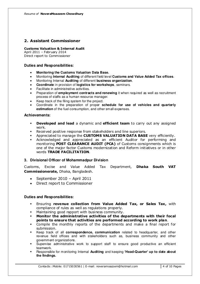 assistant auditor cover letter