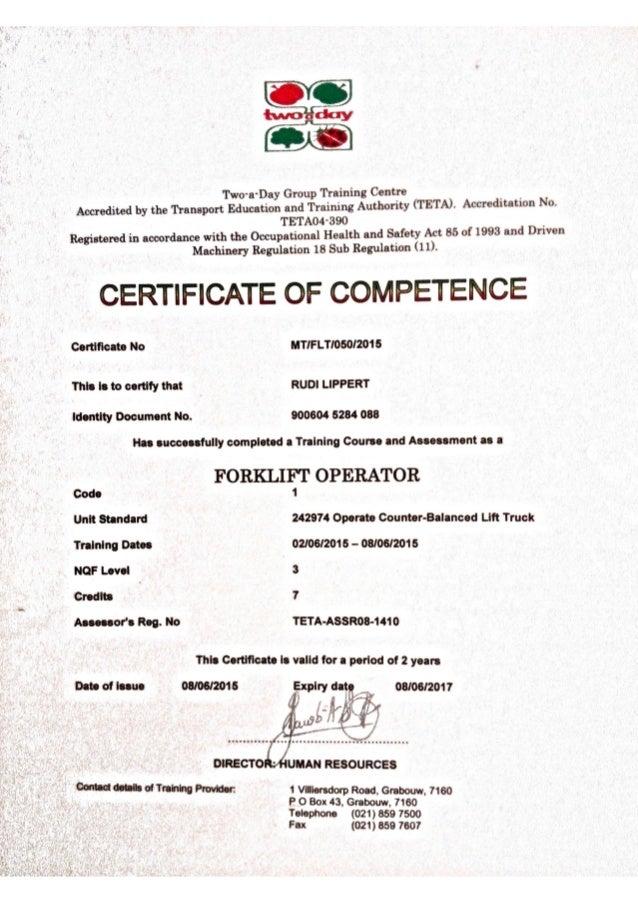 Certification licenses