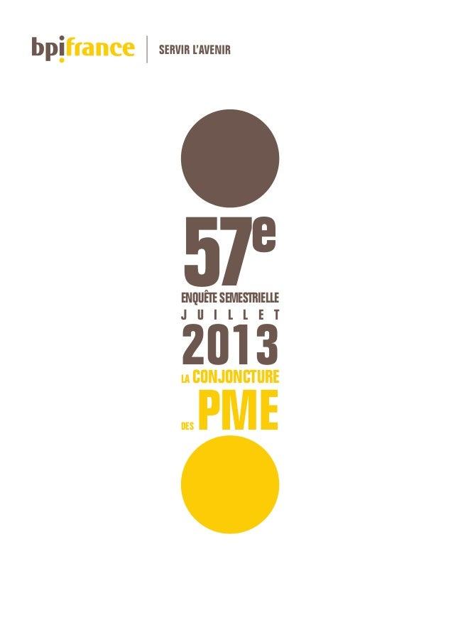 57e enquête de conjoncture des PME