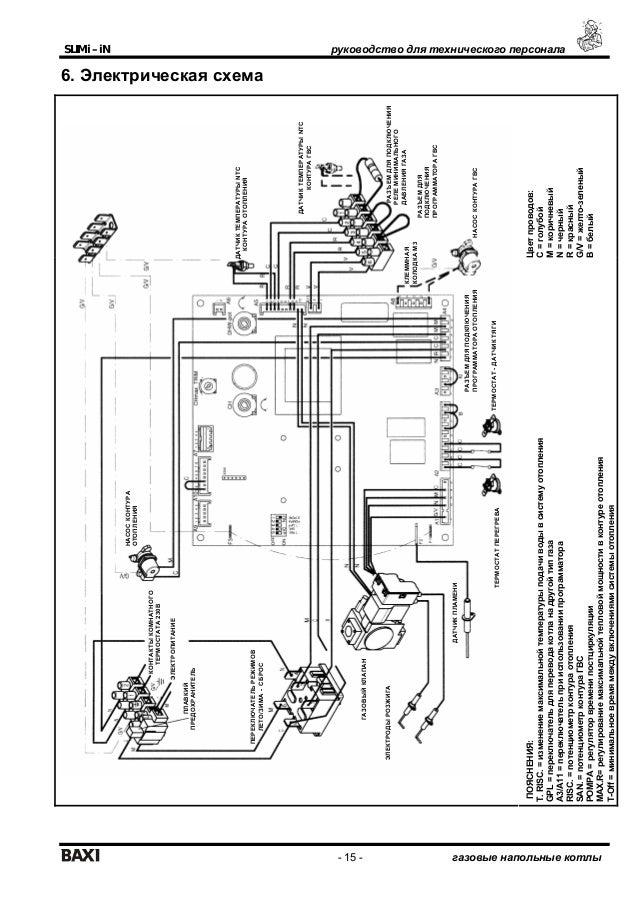 Электрические схемы газового котла