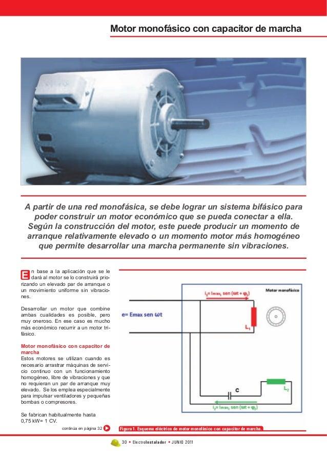 30 • Electroinstalador • JUNIO 2011  n base a la aplicación que se le  dará al motor se lo construirá prio-rizando  un ele...