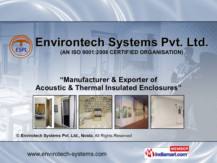 """Environtech Systems Pvt. Ltd. (AN ISO 9001:2008 CERTIFIED ORGANISATION) """" Manufacturer & Exporter of Acoustic & Thermal In..."""