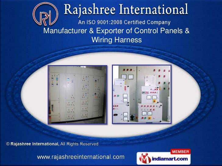 Manufacturer & Exporter of Control Panels &             Wiring Harness