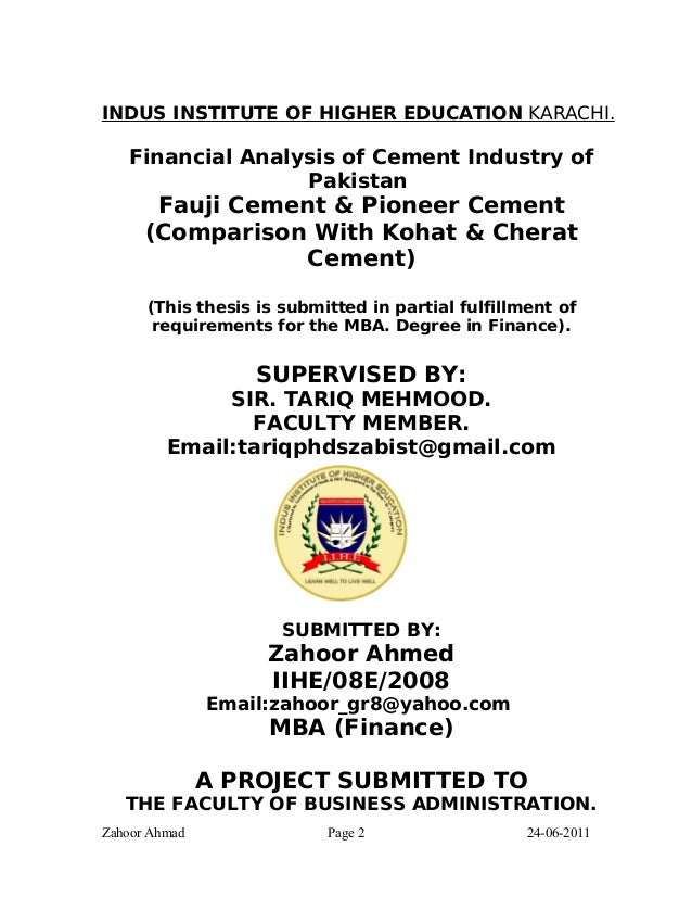 thesis of education in pakistan