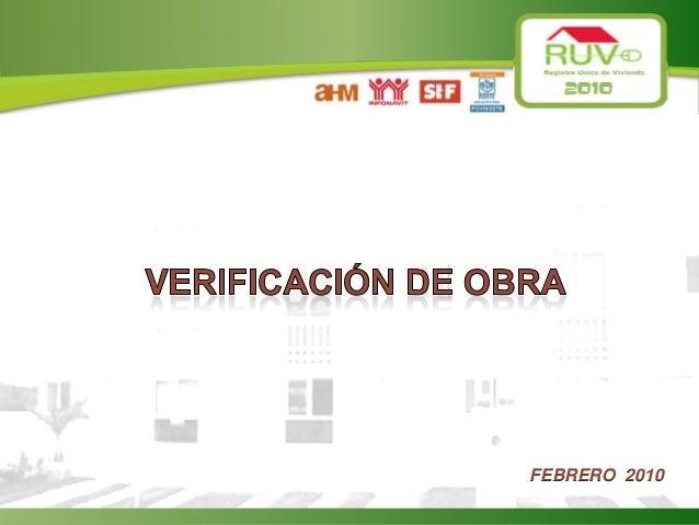4.-AVANCES DE OBRA RUV 2010