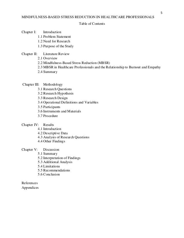 contents of chapter 3-research paper