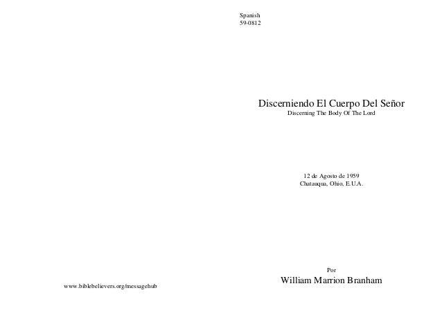 Spanish                                    59-0812                                          Discerniendo El Cuerpo Del Señ...