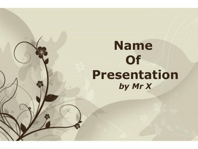 Click here to download this powerpoint template : Brown Floral Background Free Powerpoint TemplateFor more : Templates For...