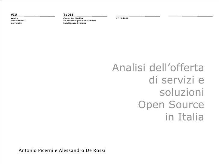 Focus Group Open Source 17.11.2010: Antonio Picerni