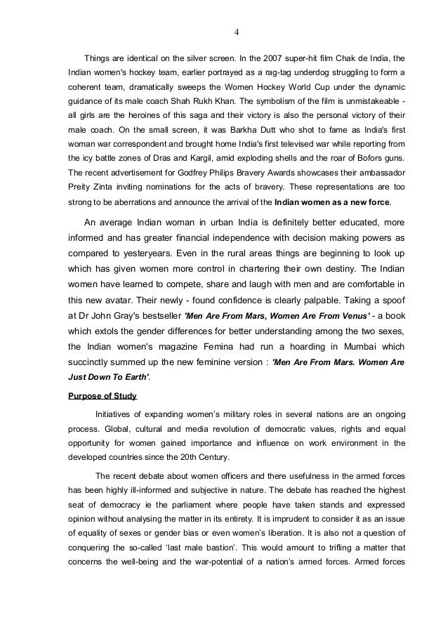 thesis statement of women liberation