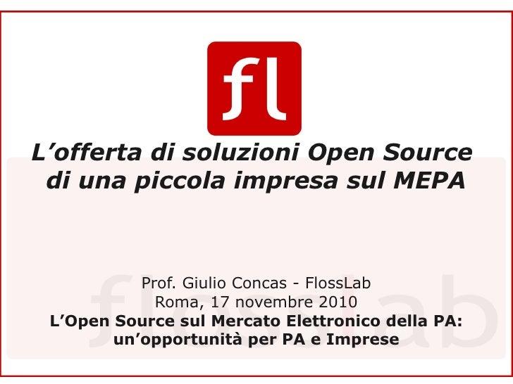 Focus Group Open Source 17.11.2010: Giulio Concas