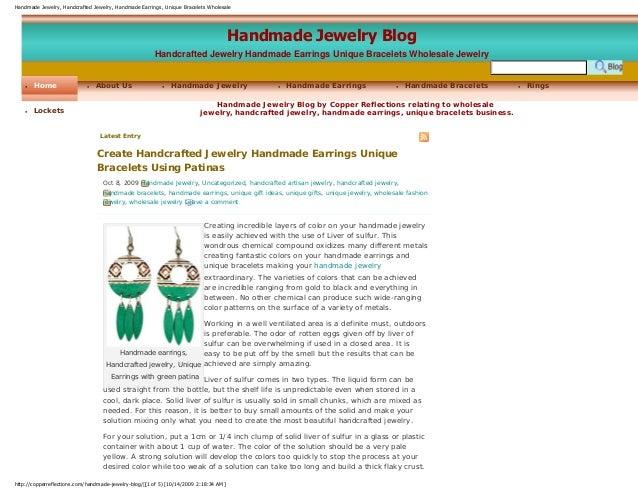 Handmade Jewelry, Handcrafted Jewelry, Handmade Earrings, Unique Bracelets Wholesale Handmade Jewelry Blog Handcrafted Jew...