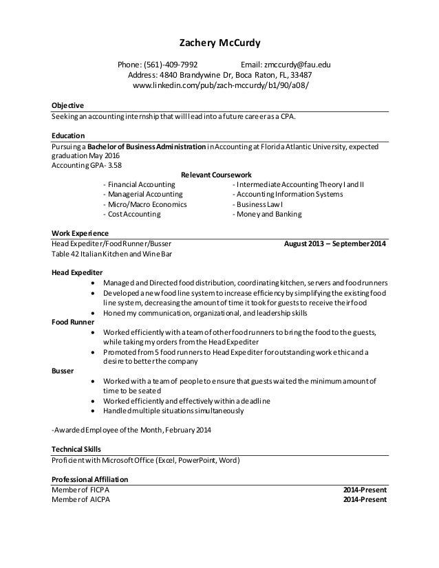 Resume For Job Fair Template Zachery Mccurdyphone Email