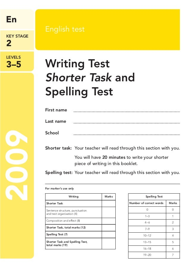 free online writing test