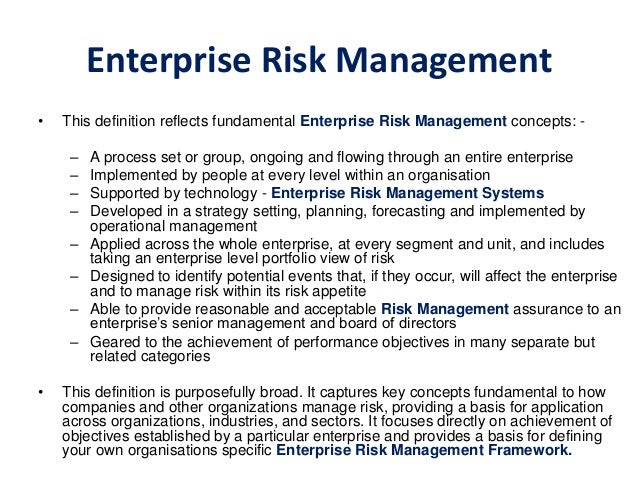 Small business risk management plan