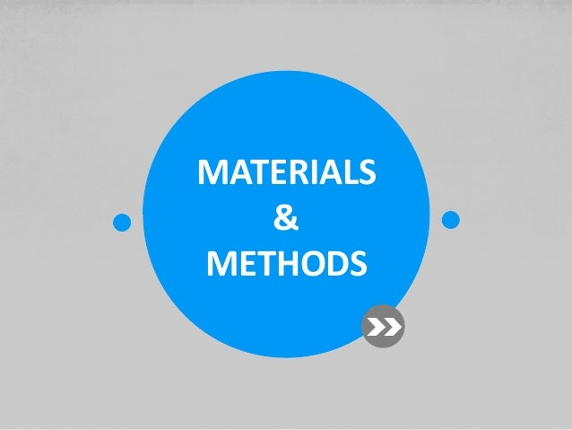 materials and methods section of thesis The methods section, or chapter three, of the dissertation or thesis is often the most challenging for graduate students.