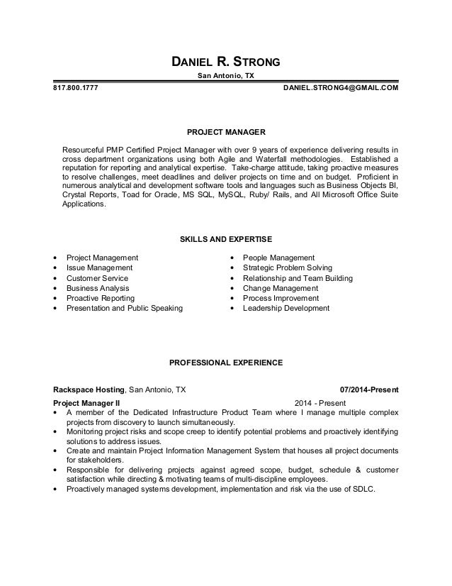 daniel strong resume With resume strong reviews