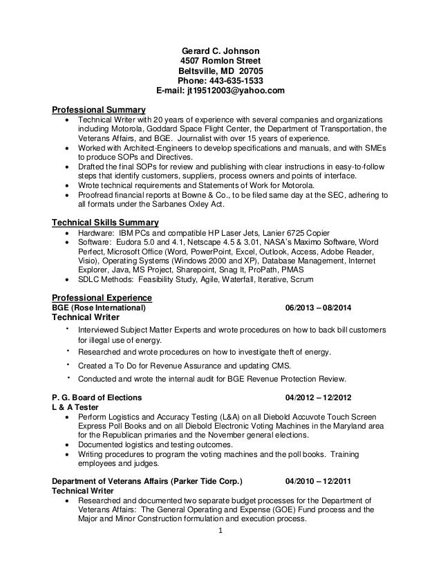 Complete Resume Examples