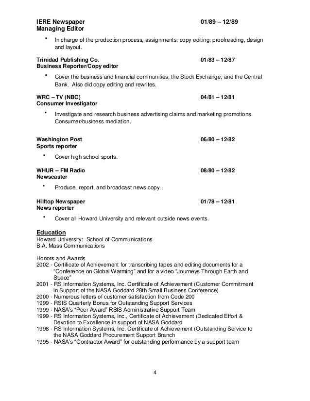 photo - Copy Of A Resume Format
