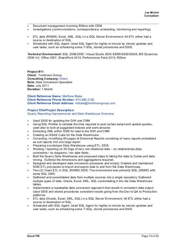 joe michel 2015april09 sql crm bi resume with references