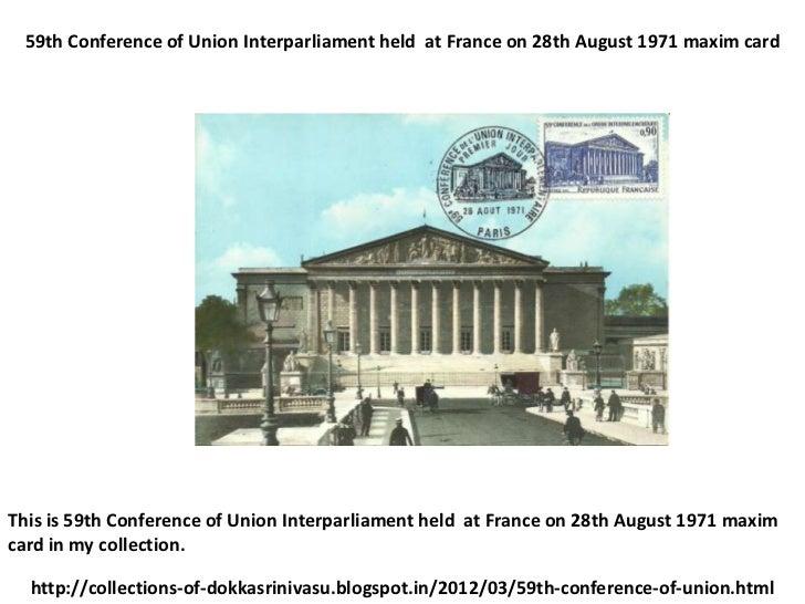 59th conference of union interparliament maxim card