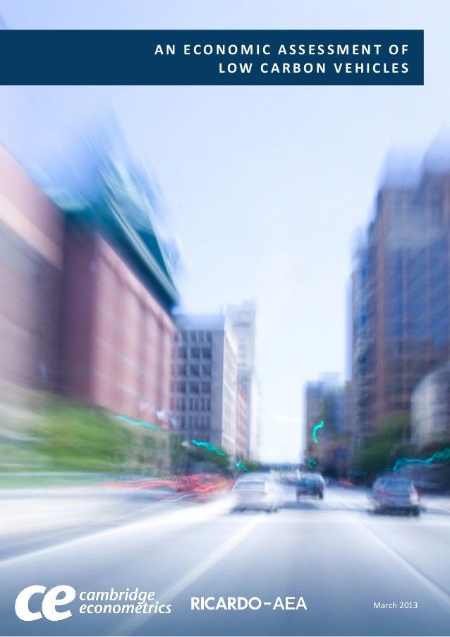 An economic assessment of low carbon vehicles