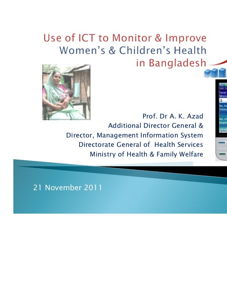 Use of  ICT to Monitor and Improve Women's and Children's Health in Bangladesh (English)