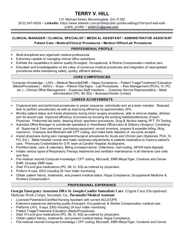 Resume help medical assistant