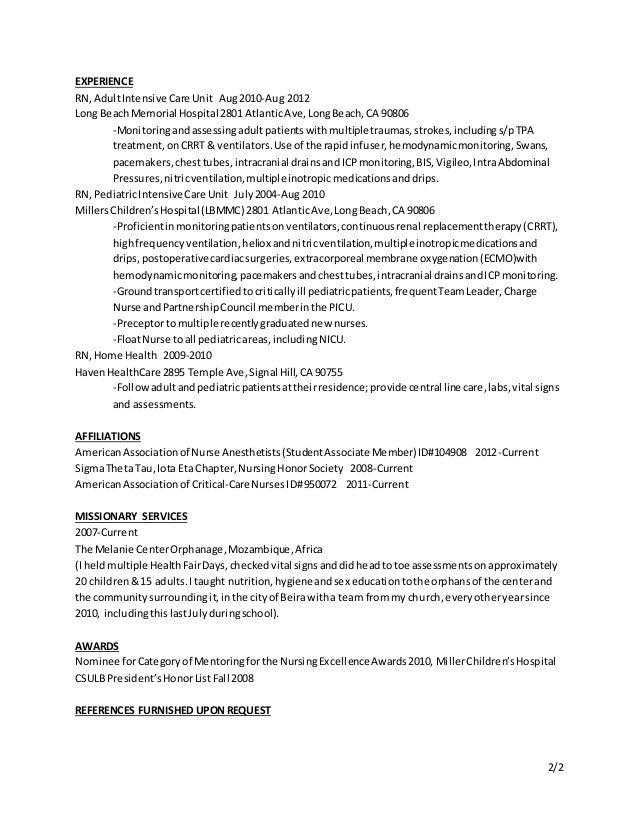 nurse anesthetist resume templatesinstathredsco - Nurse Anesthetist Resume