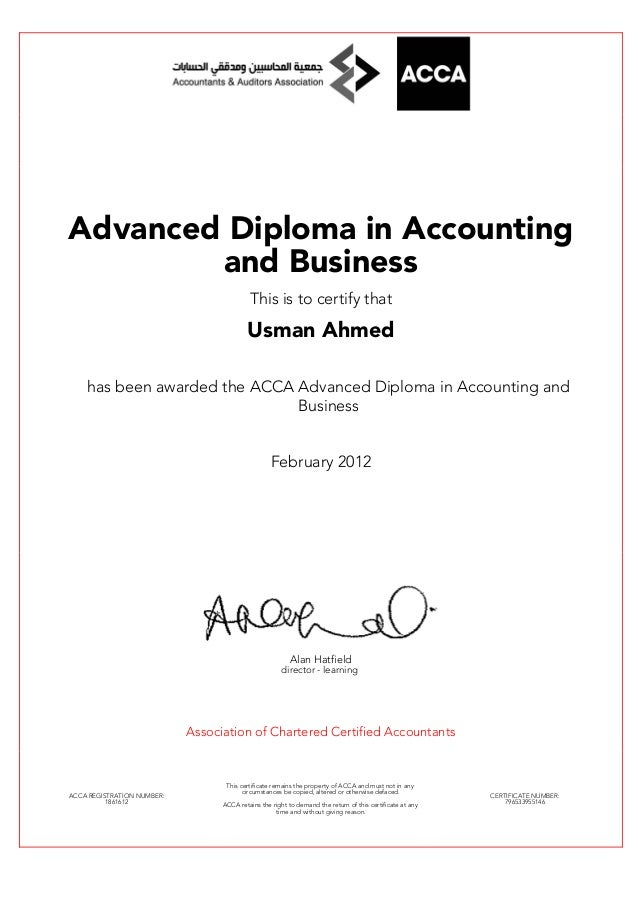Advance Diploma in Accounting & Business