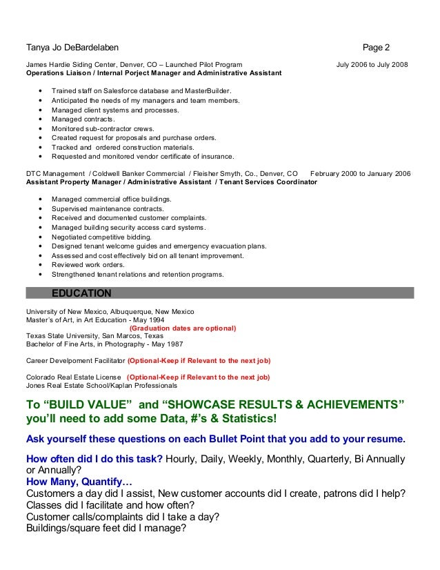 resume writer denver