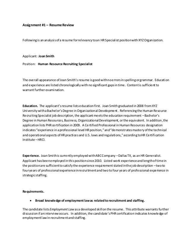 hrdv3305 resume review