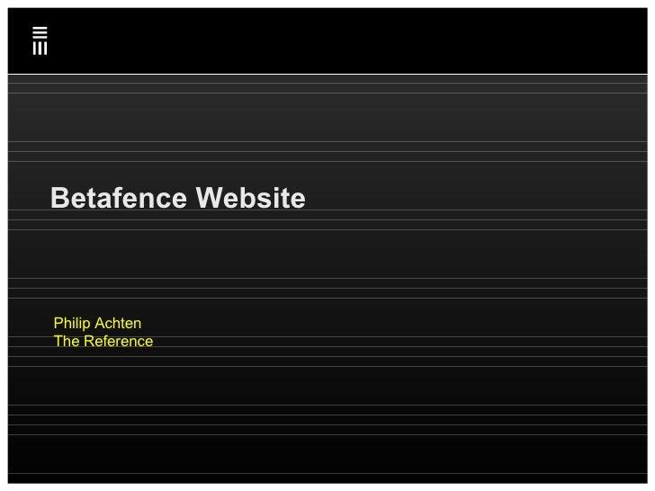 Emakina Academy #13 : Betafence Website