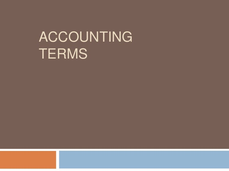 5 accounting terms