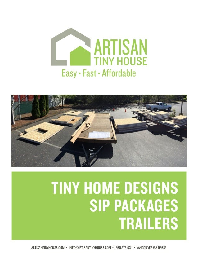 Artisan tiny house catalog for Sip home packages