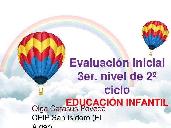 Evaluación Inicial           3er. nivel de 2º                 ciclo         EDUCACIÓN INFANTILOlga Catasús PovedaCEIP San ...