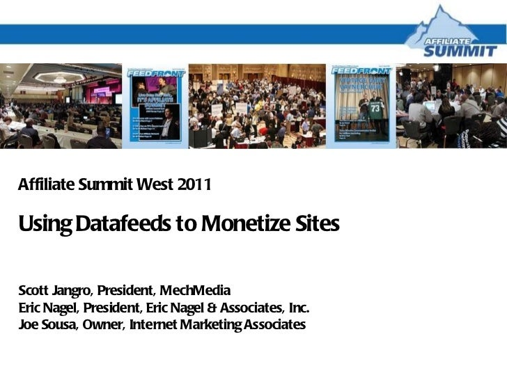 Using Datafeeds to Monetize Sites