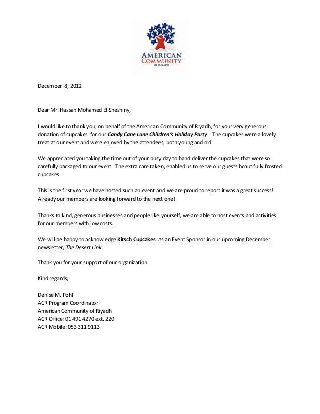 Education Sponsorship Letter Example