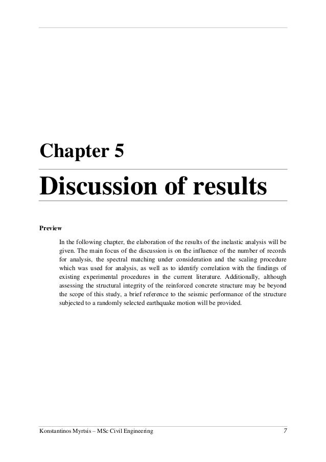 discussion in thesis chapter Our consultants can assist students to find the meaning of the information they have collected and to present it in a manner than can be defended open this chapter by reminding the reader of the purpose of the study methods and procedures: summarize the approach major findings summarize the.