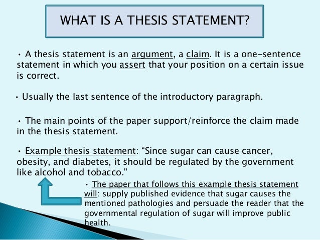 restatement of the thesis statement