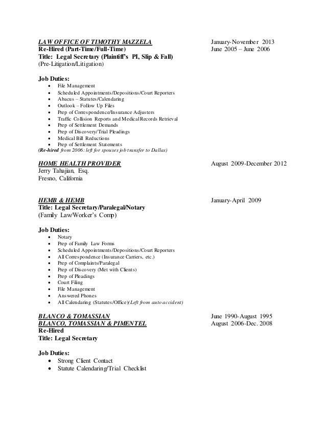 Construction company secretary resume